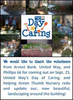 Thank you to the vollunteers who helped at the United Way Day of Caring!